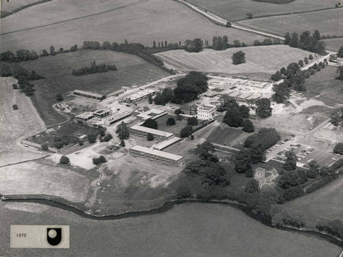 Aerial view of the Walton Hall campus