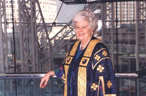 Open University Chancellor Betty Boothroyd.