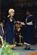 video preview image for Betty Boothroyd and an OU graduate