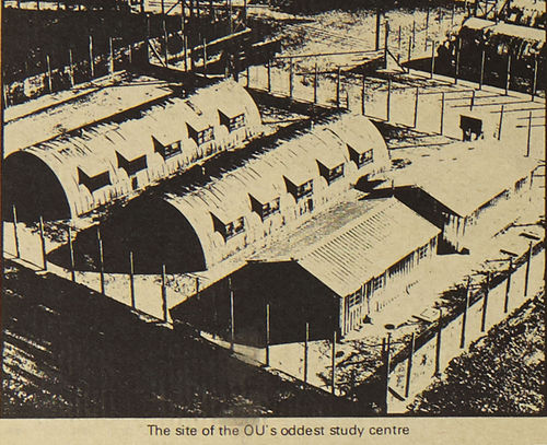 Image of the Long Kesh Internment camp/centre in Northern Ireland. This image first appeared in the OU student magazine 'Sesame' in May 1972 (volume 1, number 1, p12) within the article 'One day in the life of Jane Nelson'.